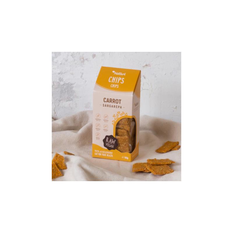 NaTuri - Sárgarépa chips - sós
